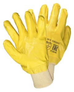 Нитриловые перчатки желтый облив