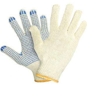 Перчатки хб с пвх точка